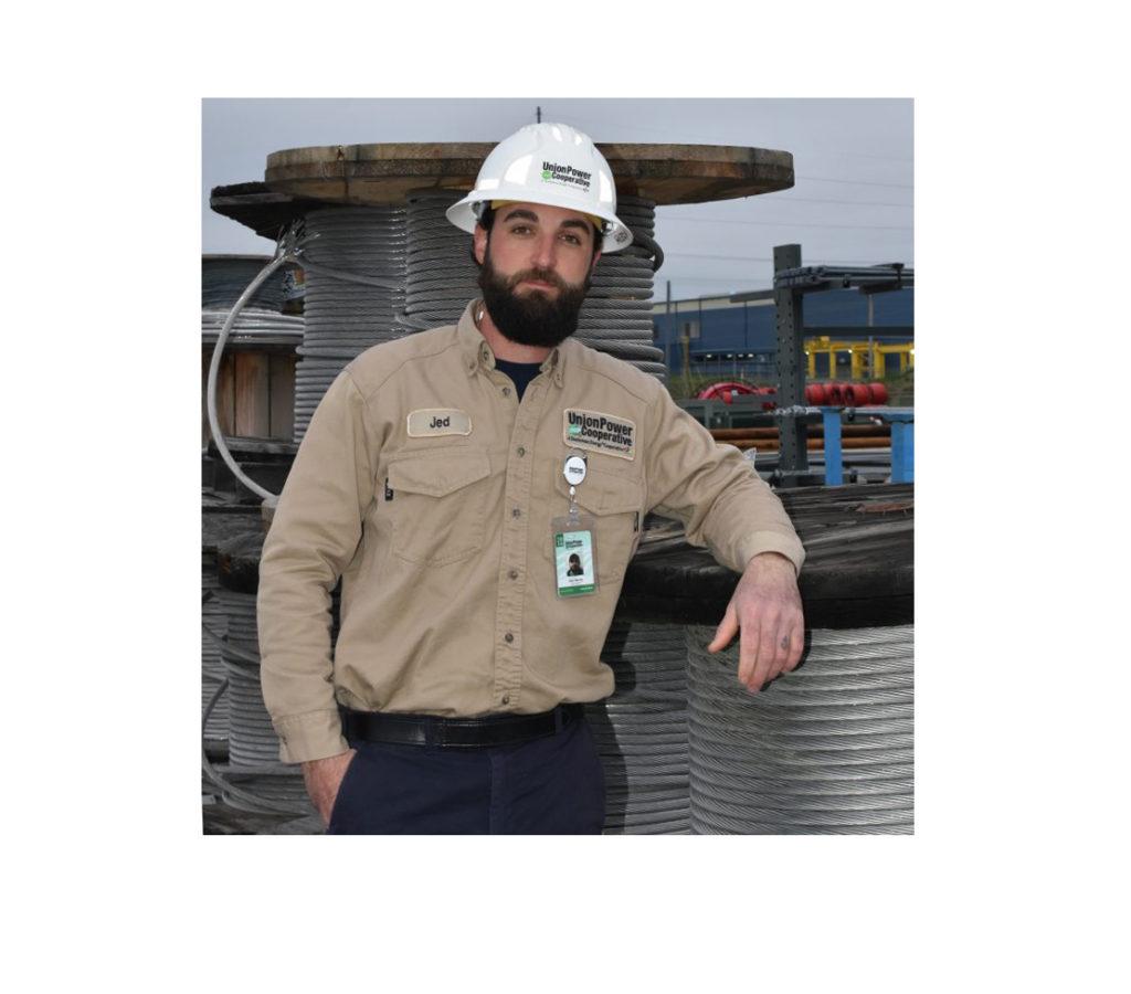 Employee wearing uniform